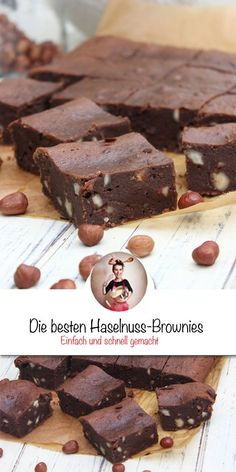 Haselnuss-Brownies – Low Carb Hazelnut brownies – low carb, Check more at wienehmeichschnel … Chef Recipes, Slow Cooker Recipes, Low Carb Recipes, Blondie Bar, Healthy Brownies, Sweet Bakery, Cupcakes, Fabulous Foods, Brownie Recipes