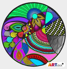 Arte Shabby Chic, Coaster Crafts, Mandala Doodle, Cd Art, African Art, Pottery Art, Painting On Wood, Painted Rocks, Flower Art