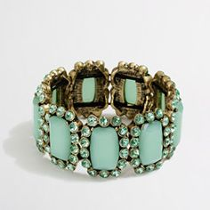 J.Crew stone and dotted crystal bracelet