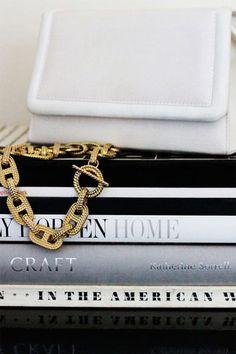 Hermes 18K link necklace