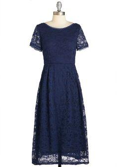 Ravishing Reception Dress in Navy | Mod Retro Vintage Dresses | ModCloth.com