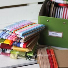 Organize your ribbon - perfect for scrapbooking & cardmaking, keep it all in one place.