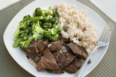 Paleoista Grass-Fed Flank Steak with Garlicky Broccoli | The Dr. Oz Show | Follow this Dr. Oz Recipe board Now and Make it later!