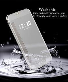 Electroplating Acrylic Mirror Smart Sleep Flip Case For Samsung Edge Samsung Accessories, Acrylic Mirror, S7 Edge, Full Body, Galaxies, Mirrors, Gadgets, Sleep, Phone Cases