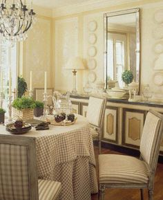 Designer Dan Carithers Dining Room Set For Spring Summer