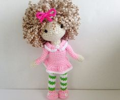 Crochet Doll / Amigurumi Girl Doll / Stuffed by HelloSweetKids ♥