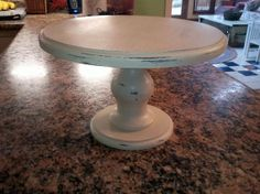 Handmade Cake Stand with Twotoned by HomeandYardTreasures on Etsy, $47.00