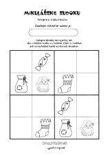 Sudoku - Mikuláš Preschool Worksheets, Kids And Parenting, Advent