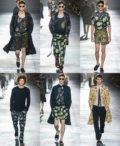 Dries van Noten - Men's Floral Print on SS14 Runways