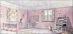 Mission bedroom - from an article in the Feb 1911 Ladies Home Journal