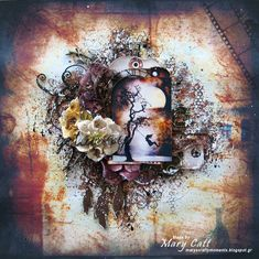 Mary's Crafty Moments: ''Getaway'' - A DT Layout for 2Crafty Chipboard wi...