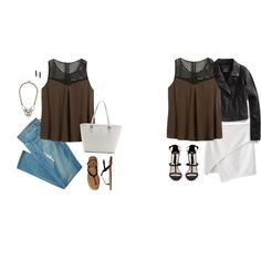 Untitled #13767 by hanger731x on Polyvore featuring polyvore, fashion, style, Madewell, Forever New, Gap, Kate Spade, BaubleBar and House of Harlow 1960