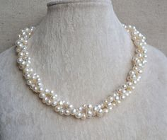 pearl necklacetwisted necklace18 inches 67mm by goodgoodjewelry, $27.00
