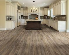 Main living/kitchen flooring TrafficMASTER Allure Ultra Wide in. Southern Hickory Resilient Vinyl Plank Flooring with SimpleFit End Joint sq. / - The Home Depot Style At Home, Grey Wood Floors, Grey Flooring, Grey Hardwood, Distressed Wood Floors, Rustic Floors, Hickory Flooring, Hardwood Tile, Parquet Flooring