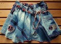 *UPCYCLING! UNIKAT! Von tollen Jeans zum supertollen Jeansrock!- absolut wintertauglich(z.B.mit Leggins oder blickdichten Strumpfhosen, Stulpen und Stiefeln)*:zweilagiger Jeansrock mit Bund,...