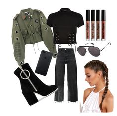 """""""Just a little bit braids"""" by gouldxobrien on Polyvore featuring moda, RE/DONE, River Island, Off-White, Tommy Hilfiger i NYX"""