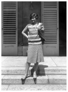1929 Coco Chanel in jersey