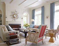 Beautiful mix, custom furnishings & antiques, Mirror by Hervé Van der Straeten // Victoria Hagan Interiors