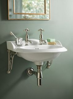 The Victoria Cloakroom Basin is the perfect washstand for smaller bathrooms. Its size makes it versatile and does not compromise on the basin size. Bathroom Basin Units, Cloakroom Basin, Downstairs Cloakroom, Vintage Bathrooms, Modern Bathroom, Small Bathroom, Bathroom Ideas, Bath Ideas, Bathroom Designs