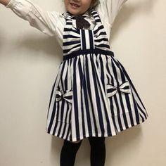 リボンの可愛い(≧∇≦)キッズエプロン♪の作り方|ソーイング|編み物・手芸・ソーイング|ハンドメイド | アトリエ Childrens Aprons, Kids Apron, To My Daughter, Kids Outfits, Sewing, Handmade, Crafts, Clothes, Vintage