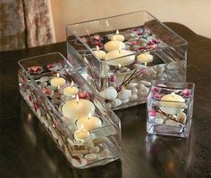 Love this candle setting.
