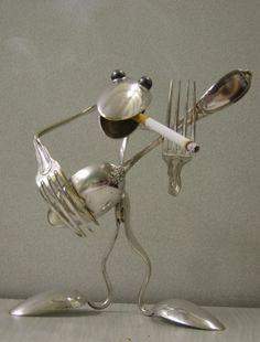 cutlery sculptures