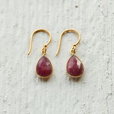 Pomegranate Earrings in Jewelry+Accessories COLLECTIONS Bohemian Spirit Romantic at Terrain