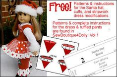 Free dolls clothes pattern - Holly Jolly Holiday! | YouCanMakeThis.com