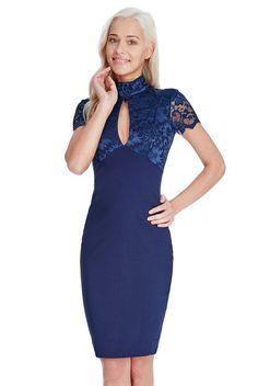 Vestido combinado encaje -mayorista de moda mujer-mayorista de ropa  mujer-ropas mujer al por mayor-ropa hecha en Europa-vestido fiesta al por  mayor-vestido ... d5b83df43