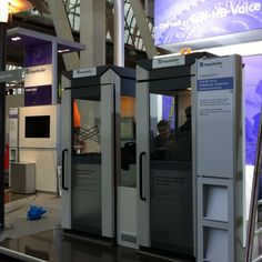 Full-HD Voice at Cebit: The future of communications in old school phone booths :-)