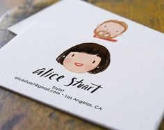 Items similar to Custom Illustration and Business Card Design ...