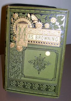 Elizabeth barret antique book images | Book Clutch Elizabeth Barrett Browning Mrs Browning's Poems 1882 ...