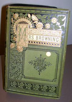 Elizabeth barret antique book images | Book Clutch Elizabeth Barrett Browning Mrs Browning's Poems 1882 ...