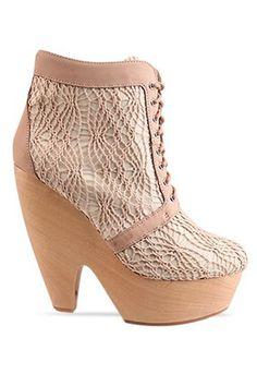 Messeca Julie Platform Wedge in Crochet Beige - Beyond the Rack $59.99