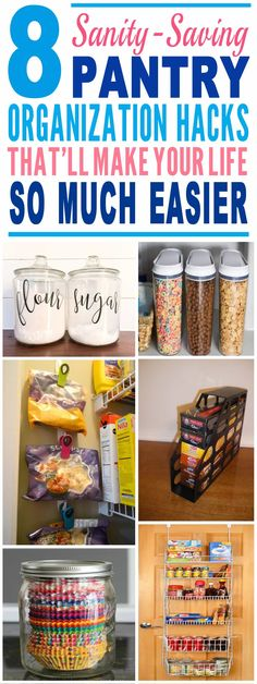 These pantry organization ideas are just genius!! Glad to have found these pantry organization hacks and tricks. Pinning for sure.