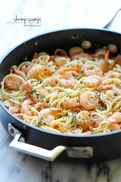 Shrimp Scampi - You won't believe how easy this comes together in just 15 minutes - perfect for those busy weeknights! from @Michele Morales Morales Howard Delicious