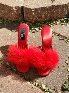 Polly of California vintage boudoir slippers.