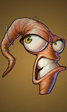 Simon Delart - Video Games Portraits Earthworm Jim
