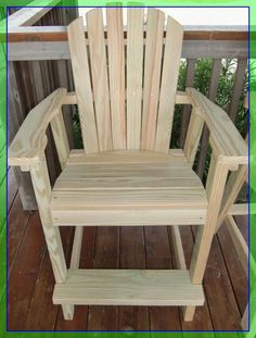 bar high chair design #bar #high #chair #design Please Click Link To Find More Reference,,, ENJOY!! Adirondack Chair Kits, Adirondack Furniture, Outdoor Furniture Plans, Woodworking Furniture, Rustic Furniture, Woodworking Plans, Diy Furniture, Woodworking Tools, Woodworking Apron