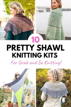 10 Grab and Go Shawl Knitting Kits. Kits take the guesswork out of coordinating the right yarn and pattern. With a knitting kit, the design experts do it for you! Knitting Kits, Knitting Projects, Knitting Patterns, Stitch Patterns, Knit Crochet, Crochet Hats, Knit Wrap, Knitting Accessories, Knitted Shawls