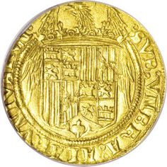 Spain, Spain: Ferdinand V and Isabella I (1476-1516) gold 2 ExcelentesND,...