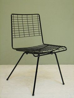 John Keal; Enameled Metal Chair For Pacific Iron, 1950s.