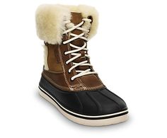 i think i have to have these in my life! Women's AllCast Luxe Duck Boot | Women's Winter Boots| Crocs Official Site