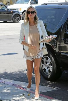 Short and sweet! Kristin Cavallari showed off her toned pins when she arrived to a gal pal's wedding shower at Fig & Olive in Los Angeles on Saturday