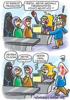 Karikatür ~ hahaha bim meyve aromalı prezervatif ile sallandı