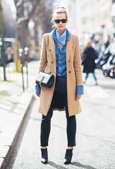 Parisienne: How to Layer Your Chambray Shirt Like a Pro