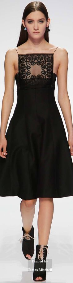 Christian Dior Resort 15: amazing black organza top & black high waisted…