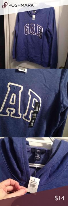 Gap hooded sweatshirt Gap hooded sweatshirt. Blue, size medium. Not super heavy. Very soft brand new with tags. True to size, not over sized. GAP Tops Sweatshirts & Hoodies