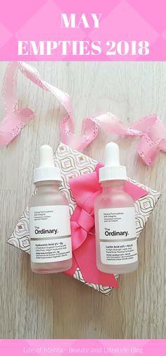May Beauty Product Empties #skincare #theordinary