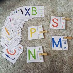 Carte de reconnaissance de l'alphabet en deux écritures Carte alphabet Source : Son instagram : justbemealways
